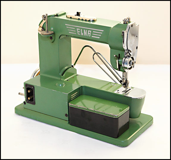 Rear view of Elna Grasshopper Series One sewing machine