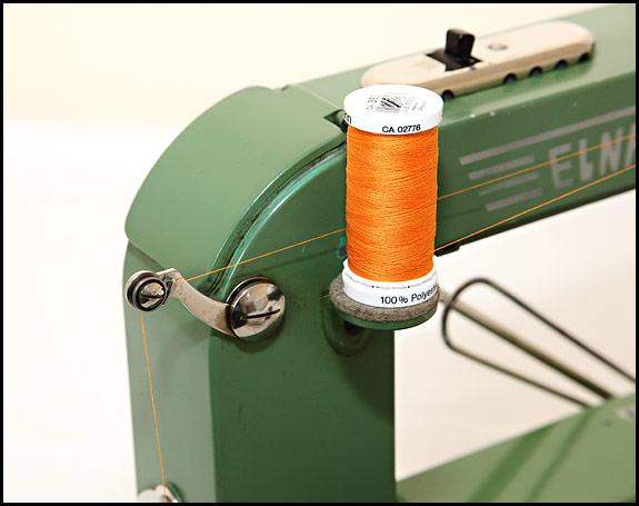 spool pin and thread guide of Elna No.1 Grasshopper