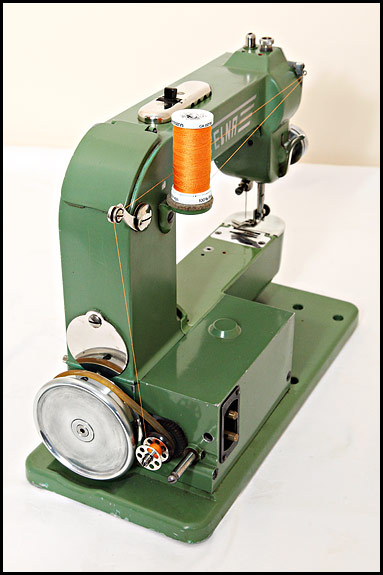 Elna Grasshopper thread path for bobbin winding