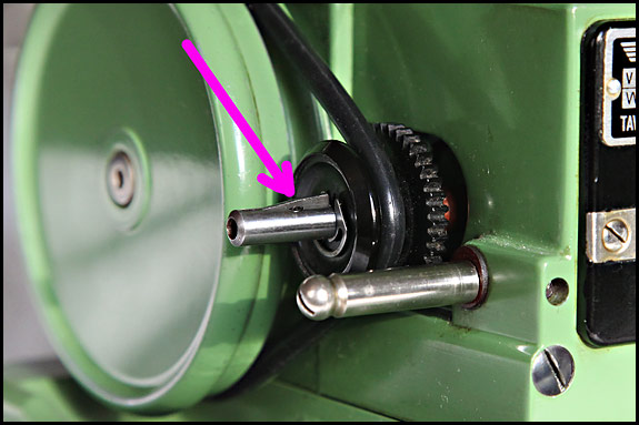 Detail picture of Elna Grasshopper drive shaft