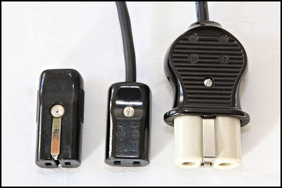 picture of mains connectors for Elna Grasshopper