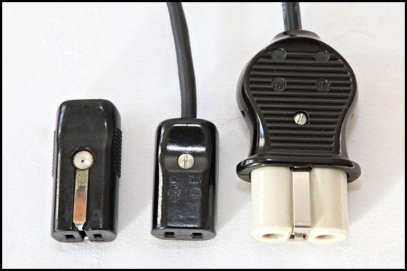 picture of mains connectors for Elna Grasshopper
